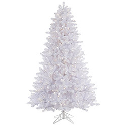 7.5 Foot Crystal White Pine Artificial Christmas Tree 750 LED Warm White Lights