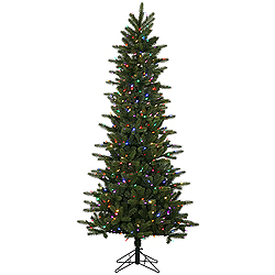 6.5 Foot Kennedy Fir Slim Artificial Christmas Tree 400 LED Multi Lights