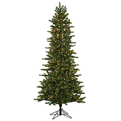 10 Foot Kennedy Slim Artificial Christmas Tree 1000 DuraLit Clear Lights