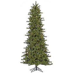 7.5 Foot Slim Ontario Artificial Christmas Tree 500 DuraLit Clear Lights