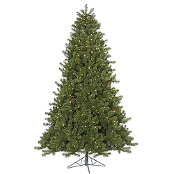 6.5 Foot Ontario Spruce Artificial Christmas Tree 550 DuraLit Multi Lights