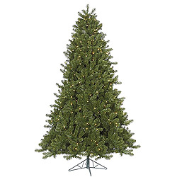 7.5 Foot Ontario Spruce Artificial Christmas Tree 750 DuraLit Clear Lights