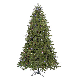 7.5 Foot Ontario Spruce Artificial Christmas Tree 750 LED Multi Lights