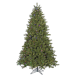 10 Foot Ontario Spruce Artificial Christmas Tree 1300 LED Mu Light i Lights