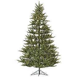 7.5 Foot Berkshire Half Artificial Christmas Tree 500 DuraLit Clear Lights
