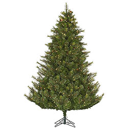 6.5 Foot Modesto Mixed Pine Artificial Christmas Tree 450 DuraLit Clear Lights