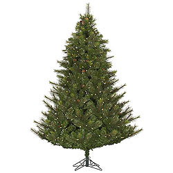 7.5 Foot Modesto Mixed Pine Artificial Christmas Tree 750 LED Warm White Lights