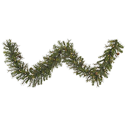 9 Foot Modesto Mixed Pine Garland 100 LED Multi Lights