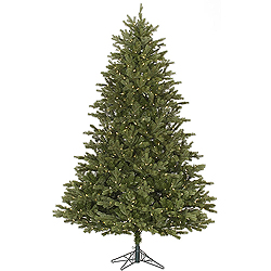 7.5 Foot Slim Balsam Fir Artificial Christmas Tree 800 LED Warm White Lights