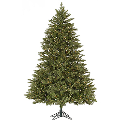 9 Foot Balsam Fir Artificial Christmas Tree 1150 DuraLit Clear Lights