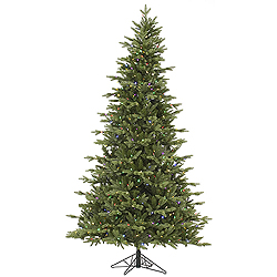 6.5 Foot Fresh Balsam Fir Artificial Christmas Tree 450 LED Multi Lights