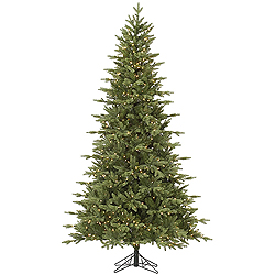 10 Foot Fresh Balsam Fir Artificial Christmas Tree 1450 DuraLit Clear Lights
