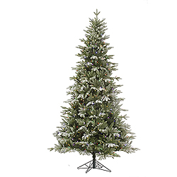 4.5 Foot Frosted Balsam Fir Artificial Christmas Tree 200 LED Multi Lights
