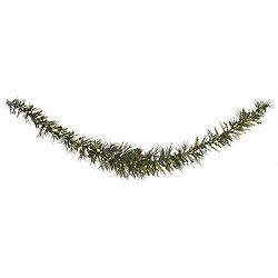 9 Foot Vallejo Mixed Swag Garland 100 LED Warm White Lights