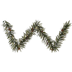 9 Foot Vallejo Mixed Pine Garland 50 DuraLit Clear Lights