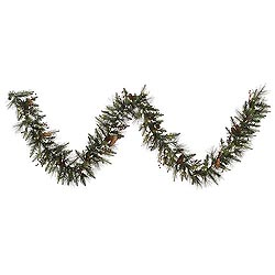 9 Foot Vallejo Mixed Garland 50 LED Warm White Lights