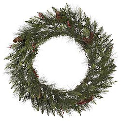 36 Inch Vallejo Mix Pine Wreath With Pine Cones