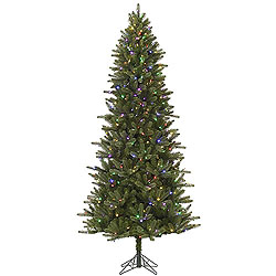 7.5 Foot Virginia Slim Artificial Christmas Tree 480 LED Color Changing Lights