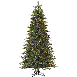 4.5 Foot Rocky Mountain Fir Artificial Christmas Tree 200 LED Multi Lights