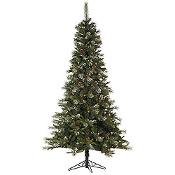 4.5 Foot Iced Sonoma Spruce Artificial Christmas Tree Unlit