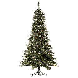 4.5 Foot Iced Sonoma Spruce Artificial Christmas Tree 200 LED Warm White Lights
