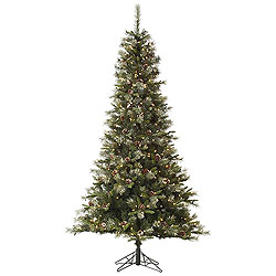 10 Foot Iced Sonoma Spruce Artificial Christmas Tree 1150 Clear Lights