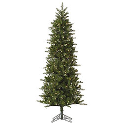 4.5 Foot Carolina Pencil Spruce Artificial Christmas Tree 200 DuraLit Clear Lights