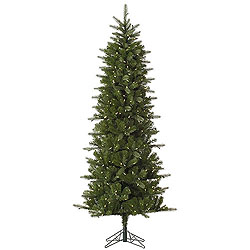 7.5 Foot Carolina Pencil Spruce Artificial Christmas Tree 450 LED Warm White Lights