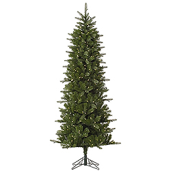 12 Foot Carolina Pencil Spruce Artificial Christmas Tree 800 LED Warm White Lights