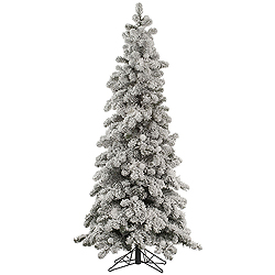 8 Foot Flocked Kodiak Spruce Artificial Christmas Tree Unlit