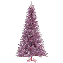 4.5 Foot Orchid Pink Tinsel Artificial Christmas Tree