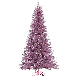 6.5 Foot Orchid Pink Tinsel Artificial Christmas Tree