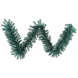 9 Foot Aqua Tinsel Garland