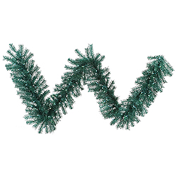 9 Foot Aqua Tinsel Garland 100 Teal Lights