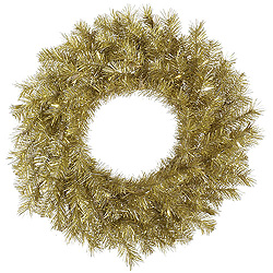 2.5 Foot Gold And Silver Tinsel Wreath
