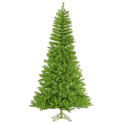 9 Foot Lime Tinsel Artificial Christmas Tree Unlit