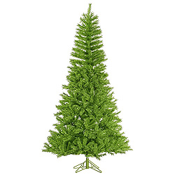 14 Foot Lime Green Tinsel Artificial Halloween Tree Unlit