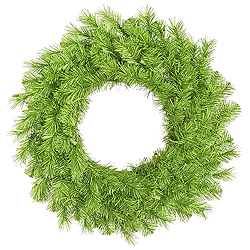 30 Inch Lime Tinsel Artificial Halloween Wreath