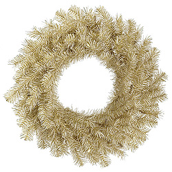60 Inch White Gold Tinsel Wreath