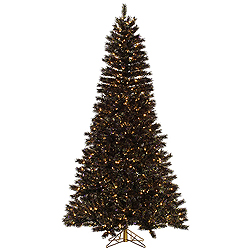 6.5 Foot Mardi Gras Tinsel Artificial Christmas Tree 450 Clear Lights