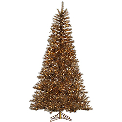 4.5 Foot Metal Mixed Tinsel Artificial Christmas Tree 200 Clear Lights