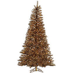7.5 Foot Metal Mix Tinsel Artificial Christmas Tree 700 Clear Lights