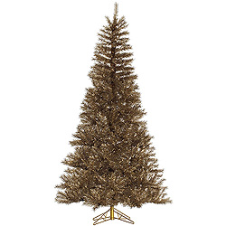 10 Foot Metal Mixed Tinsel Artificial Christmas Tree Unlit