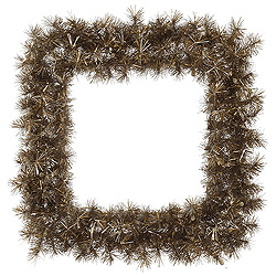 30 Inch Metal Mix Tinsel Square Wreath