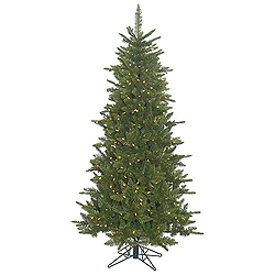 6.5 Foot Slim Durango Spruce Artificial Christmas Tree 550 LED Warm White Lights