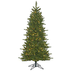 12 Foot Slim Durango Artificial Christmas Tree 1800 DuraLit Clear Lights