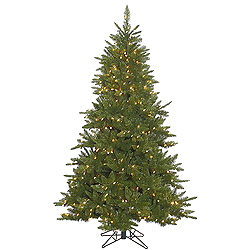 6.5 Foot Durango Spruce Artificial Christmas Tree 600 DuraLit Clear Lights