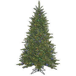 6.5 Foot Durango Spruce Artificial Christmas Tree 600 LED Multi Lights