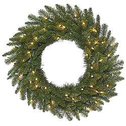 36 Inch Durango Spruce Wreath 100 DuraLit Clear Lights