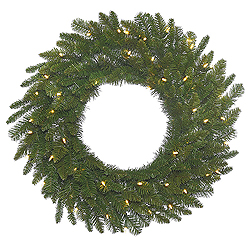 36 Inch Durango Spruce Wreath 100 LED Warm White Lights